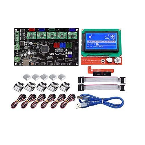 LHQ-HQ MKS Gen Motherboard V1.4 + 12864 Pantalla LCD + 5X A4988 Conductor + 6X El Conjunto de Interruptor de límite for Impresora 3D