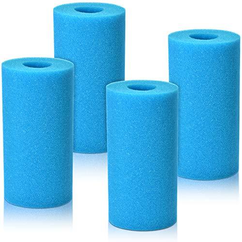 KATELUO 4 Piezas Esponja para Filtro de Piscina para Intex A, Filtro de Cartucho de Esponja, Filtros de Piscina de Espuma, Esponja de Filtro de Piscina para Piscina SPA Jacuzzi, Reutilizable, Lavable
