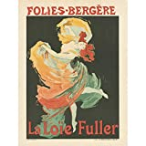 Cheret Folies-Bergere Loie Fuller Dancer Advert Art Print