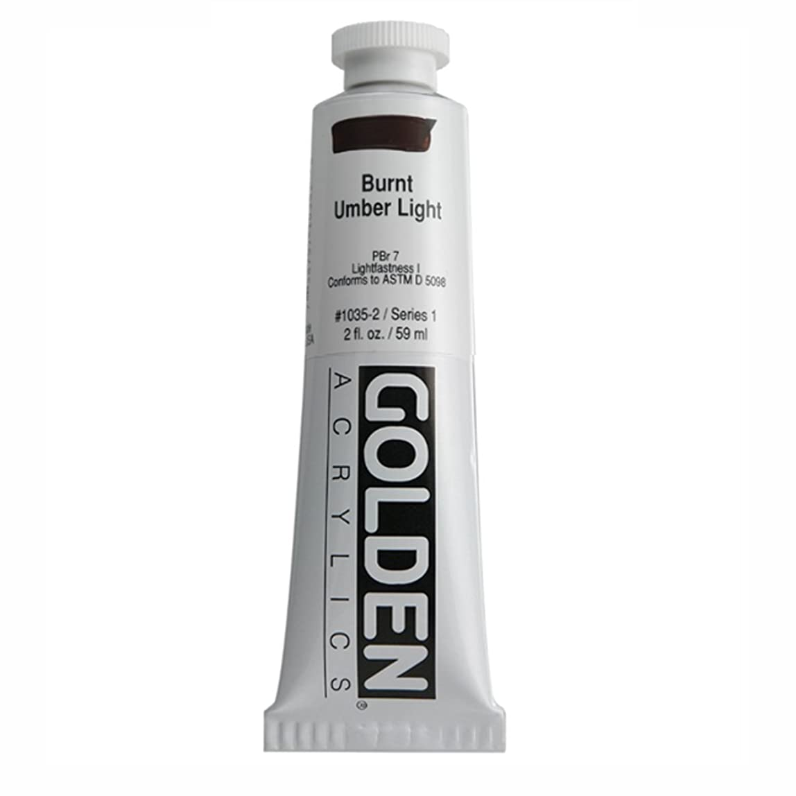 Golden Heavy Body Acrylic Paint, 2 Ounce, Burnt Umber Light hbrujtm448122