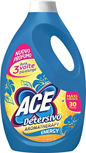 ACE Detersivo Aromatherapy Energy, Maxi Formato, 30 Lavaggi, 1800 g