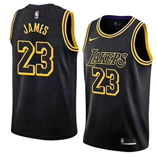 ZJJY Basketball Trikot Lebron James # 23 Männer NBA Basketball Jersey, Atmungsaktiv Verschleißfeste Gesticktes Sweatshirt Fitness T-Shirt Fan Shirt, XS-XXL, L100XQ (Size : M)