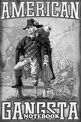 Notebook: George Washington Our Founding Father As A Pirate Comp , Journal for Writing, College Ruled Size 6