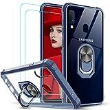 LeYi Funda para Samsung Galaxy A20e con [2-Unidades] Cristal Vidrio Templado,Transparente Carcasa con 360 Grados iman Soporte Silicona Bumper Antigolpes Armor Case para Movil A20e,Clear Azul