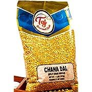 TAJ Premium Indian Chana Dal, Split Desi Chickpeas (4-Pounds)