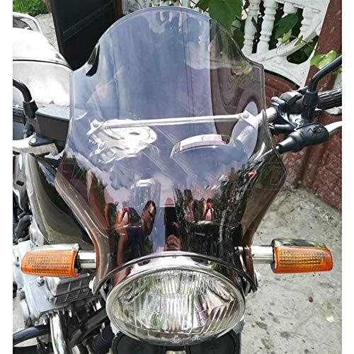 Spoiler Windschutzscheibe Windschutzscheibe Schirm Fit For 2004-2019 Yamaha YBR 125 250 YBR125 YBR250 ED SPD Scheinwerfer Seitenmontagewinkel (Color : Smoke)
