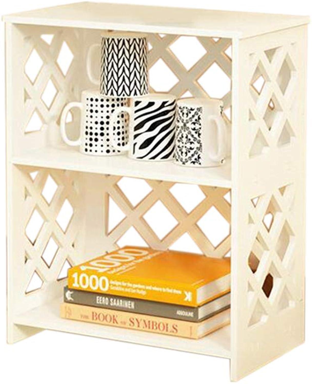 JCAFA Shelves Bookshelf Storage Shelf Floor Rack Geometric Patterns Bedroom Living Room Decoration Multi-Layer Partition Storage Rack (color   White, Size   15.74  9.05  20.07in)