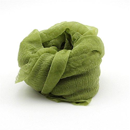 DDU Nouveau multi-couleur écharpe doux élégant pour les filles femmes(Vert)