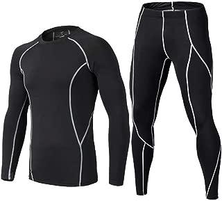 Kids' Boys Long Sleeve Athletic Base Layer Compression Underwear Shirt & Tights Set