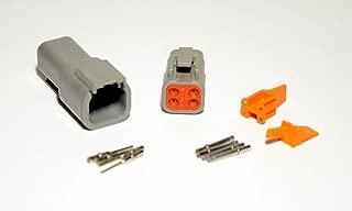 Deutsch DTM 4-pin Connector Kit with 20 Gauge Solid Terminals