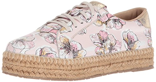 KAANAS Damen ARIZONA LEATHER ESPADRILLE SNEAKER Turnschuh, Rose, 40 EU