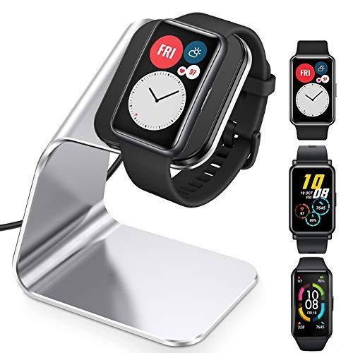 CAVN Ladegerät Kompatibel mit Huawei Watch Fit Ladestation, Honor Watch ES/Honor Band 6 Ladestation, 4.2ft USB Aluminium Charger Dock Magnetisches Kabel Ladekabel Aufladekabel für Huawei Fit/Honor ES