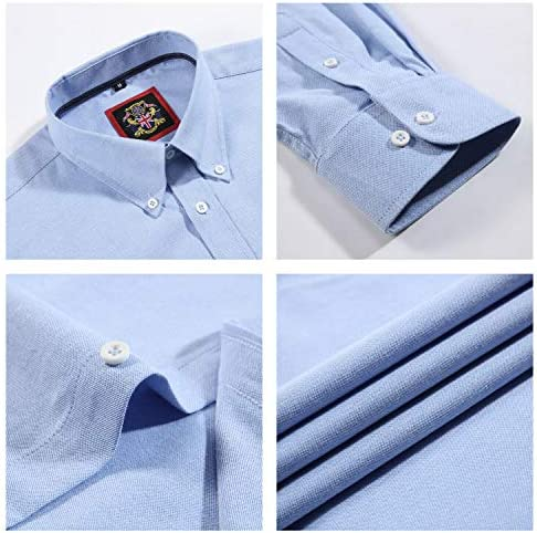 Camisa de manga larga para Hombres, Modelo English Oxford Cuello con botones, con Bolsillo y Bordado. Se lleva con una corbata o en un estilo relajado ...