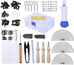 306 Pcs Full Set of Needle Felting Kit,Needle Felting Tools Starter Kit,Triangular Needles Gauge 36 38 40 Foam Pad Storage Box Doll Eyes Doll Noses, Needle Felting Supplies