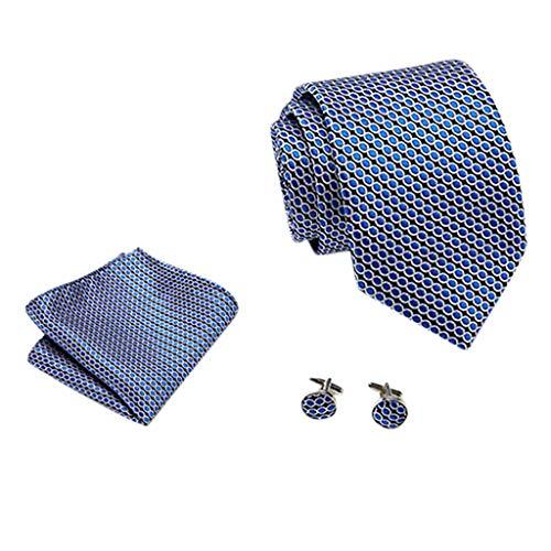 Hffan Herren Krawatte Punkte Geschäftsanzug Seide Suit