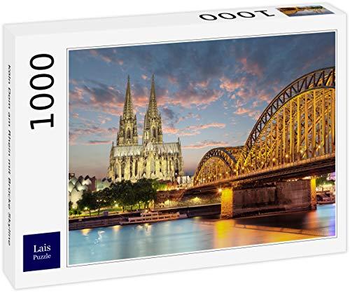 Lais Puzzle Köln Dom am Rhein mit Brücke Skyline 1000 Teile