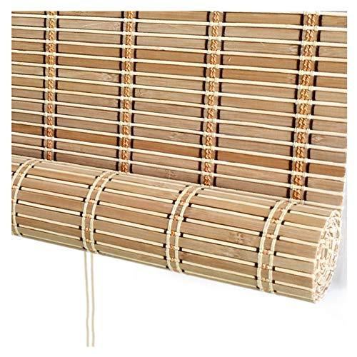 Bambusrollo Raffrollo, Römische Hölzerne Innenrollos Sonnenschutz Lichtfilterung und UV-Schutz, Größenanpassung PENGFEI (Color : B, Size : 150cmX220cm)