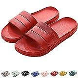INFLATION - Pantofole estive a strisce, per interni ed esterni, antiscivolo, da bagno, in plastica, 7 colori, Rosso (Colore: rosso), 38/39 EU
