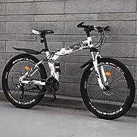 Hamel マウンテンバイク折り畳み式の24インチホイール可変速ダブル衝撃吸収システム女性の男性の屋外スポーツシティコミューター自転車、大