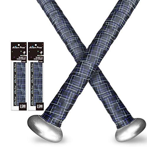 Alien Pros Bat Grip Tape for Baseball and Softball (2-Pack) – Non-Slip Easy to Install Bat Tape – Perfect Baseball bat Grip for Aluminum or Wood bat Grip (2-Pack, Black Puzzles)