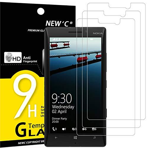NEW'C 3 Stück, Schutzfolie Panzerglas für Nokia Lumia 930, Frei von Kratzern, 9H Festigkeit, HD Bildschirmschutzfolie, 0.33mm Ultra-klar, Ultrawiderstandsfähig
