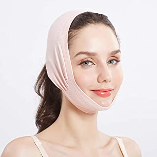 Afslankverband voor het gezicht, V Gezichtsartefact Dunne dubbele kinlift Anti-rimpelverband Ultradun ademend Slaapstraal ...