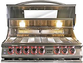 Cal Flame 089245002208 5 Burner Deluxe Convection Grill Head W/Rotisserie & Window, Stainless Steel