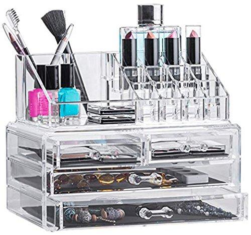 Solly`s Anna Aufbewahrungsbox für Make Up und Schmuck, Kosmetik Organizer aus Acryl, Schmuckkästchen, Schubladenbox Schminke