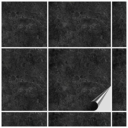 FoLIESEN Fliesenaufkleber 15x15 cm - Fliesen-Folie Bad - Klebefolie Küche - 20 Klebefliesen, Dekor Fontanella