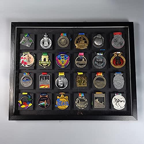 ABCSS Medaillenrahmen,Medaille Display Rahmen,Marathon-Medaillenaufbewahrungsrahmen,Wandbilderrahmen,Massivholzvitrine,Goldmedaillenrahmendekoration