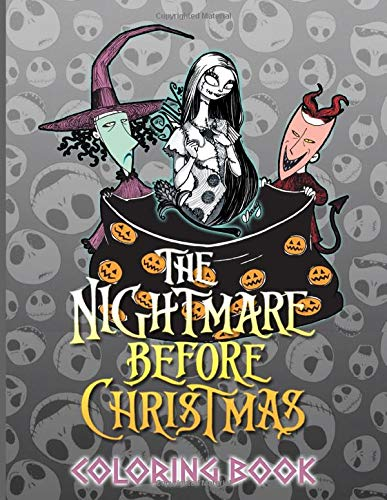 Nightmare Before Christmas Coloring Book: Awesome Illustrations Coloring Books For Adults Nightmare Before Christmas