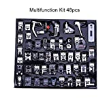 AIMG Machines Pies Kit Set Singer Sew Kit 32/42/48/52 / 62pcs Máquina de Coser multifunción Presser Foot Press Costura de pies, 48pcs