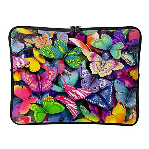 Bolso para portátil mariposa pequeño lindo portátil bolso de hombro para negocios blanco 17 zoll