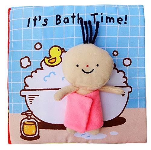 Xiaoyu livres mous pour les nouveau-nés, livre de bébé d'activité molle, jouet éducatif pour le garçon & fille, l'activité de contact et de sensation, bain