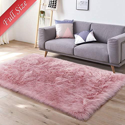 Muutos Teppich Rund 160 x 180 cm, Teppich Design, Pflegeleicht, Antistatisch, für Wohnzimmer, Schlafzimmmer, Kinderzimmer, Esszimme - Pink