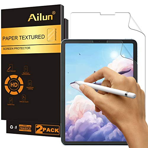 Ailun Paperfeel Screen Protector Compatible for iPad Pro 12.9 Inch Display [2020 & 2018 Release] 2Pack Draw and Sketch Like on Paperfeel Anti Glare Less Reflection
