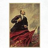 QINGRENJIE Wandkunst Bild Leinwanddruck Klassik Lenin