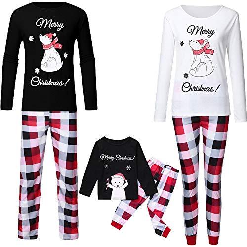 TLLW Familia de Navidad Pijamas de Navidad Familia Coincidencia Oso Polar Pijama PJ Conjuntos de Navidad Pijamas Niños de Navidad Pijamas