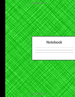Notebook: 300 Page Pitman Shorthand Ruled Lined Steno Crosshatch Green Composition Shorthand Writing Pad & Teeline Journal | Lists Office Meeting ... Organizer for College University | Notepad