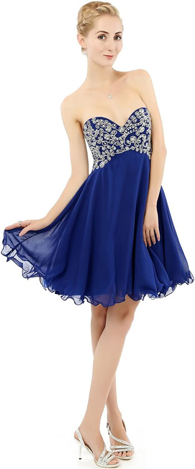 YOUAREFACNY 2017 New Arrival Short Sweethert Beads Homecoming Cockital Party Dress