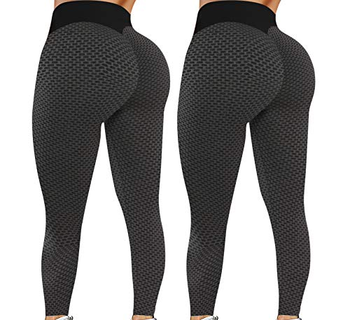 Leggings for Women Butt Lift - 2 Pack High Waist Yoga Pants for Women Tummy Control Slimming Booty Leggings Workout Athletic Running Butt Lifting Tights