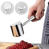 Mazo Carne Ablandador de Carne Acero Inoxidable Profesional, Doble Cara Meat Tenderizer Hammer...