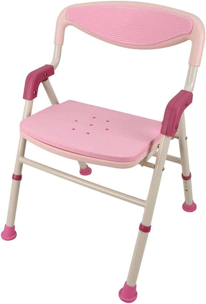 ZQYYUNDING Foldable Shower Chair Adjustable Bathroom Stool, Show