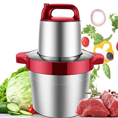 JIN Fleischwolf, Gewerbliche und Private elektrische Hackfleisch Maschine für Fleisch Gemüse Obst, mit Edelstahlklingen 1000W leistungsstarker Motor, geräuscharm, 6l Kapazität,Red