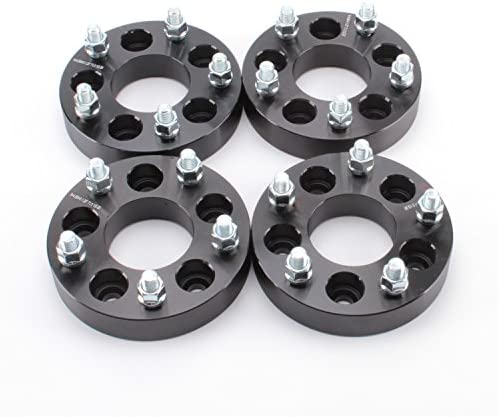 APL 4pcs 5x4 5 to 5x5 Black with 1 2 Wheel Spacers Adapters 1 25 32mm Thickness Studs for Jeep product image