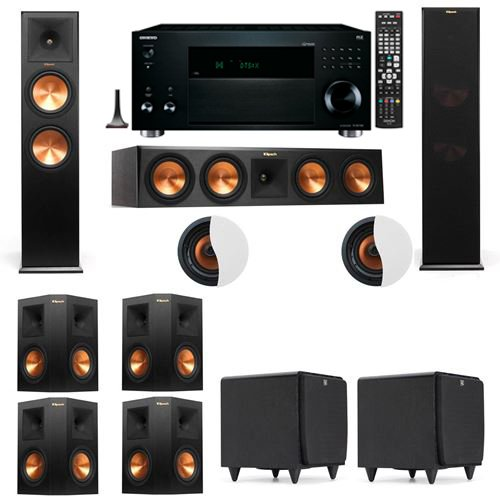 Find Discount Dolby Atmos 7.2.2 Klipsch RP-280F Tower Speakers SDS12 with Onkyo TX-RZ1100