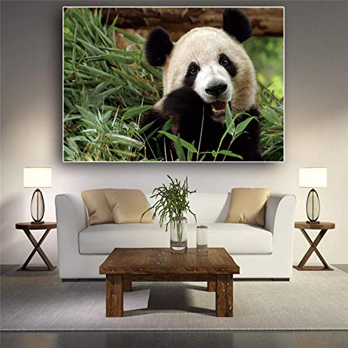 Ajcwhml Bamboo Panda Animal Animal Canvas Painting Poster and Prints Wall Art Picture for Living Room Decoración nórdica