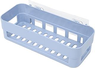 Yosoo Estantes de Baño Ahorro de Espacio Exhibición Extra Fuerte Estantería Montaje en Pared Caja de Almacenamiento Cesta de Ducha con Cinta Adhesiva para Baño Cocina Dormitorio(Blue)