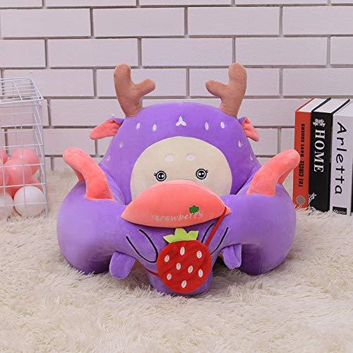 Ragdoll Baby Leerstoel Creatieve Cartoon Zuigelingskinderen Leren Zittend Op De Bank Knuffel Zithouding Kleine Bank Popopen Oog Paars Wit Camouflage Deer_55cm * 40cm