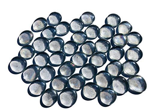 Rhinestone Paradise glazen stenen decoratieve stenen wit doorzichtige 3 tot 4 cm platte stenen rond decoratie stenen glitterstenen mozaïek